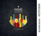 wine list design. vector... | Shutterstock .eps vector #403593808