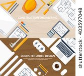 engineering and architecture... | Shutterstock .eps vector #403597048