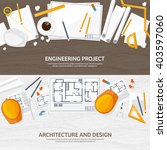engineering and architecture... | Shutterstock .eps vector #403597060