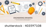 engineering and architecture... | Shutterstock .eps vector #403597108