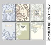 vector set of invitations  save ... | Shutterstock .eps vector #403599430