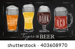 poster beer types with four... | Shutterstock . vector #403608970