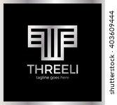 templar logo   three line bold... | Shutterstock .eps vector #403609444