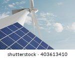 renewable energies solar... | Shutterstock . vector #403613410