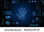 Futuristic Hand Scan Identify...