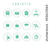 set of logistic and shipping... | Shutterstock .eps vector #403615063