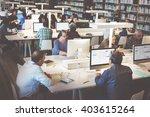 library academic computer... | Shutterstock . vector #403615264