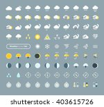 huge pack of weather icons.... | Shutterstock .eps vector #403615726