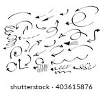 vector set of hand draw arrows | Shutterstock .eps vector #403615876