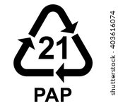 paper recycling symbol pap 21... | Shutterstock .eps vector #403616074