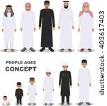 all age group of arab man... | Shutterstock .eps vector #403617403