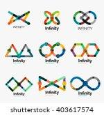 vector infinity logo set  flat...   Shutterstock .eps vector #403617574