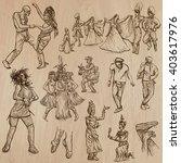 dancing people   dancers.... | Shutterstock .eps vector #403617976
