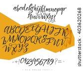 alphabet letters  lowercase ... | Shutterstock .eps vector #403620268