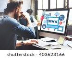 world wide web internet online... | Shutterstock . vector #403623166