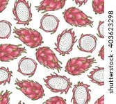 dragon fruit pattern | Shutterstock .eps vector #403623298