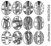 set of hand drawn easter eggs....   Shutterstock . vector #403625626