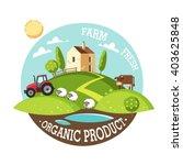 organic product. farm fresh.... | Shutterstock .eps vector #403625848