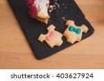 closeup of cookies in a shape... | Shutterstock . vector #403627924