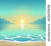 vector summer background... | Shutterstock .eps vector #403635838