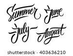 summer. june  july  august.... | Shutterstock .eps vector #403636210