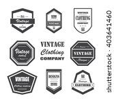 set of retro vintage labels and ... | Shutterstock .eps vector #403641460