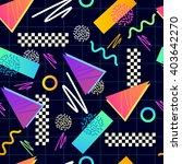 classic 1980's seamless pattern.... | Shutterstock .eps vector #403642270