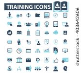 training icons  | Shutterstock .eps vector #403642606
