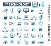 it technology icons  | Shutterstock .eps vector #403644088
