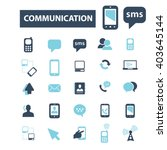 communication icons  | Shutterstock .eps vector #403645144