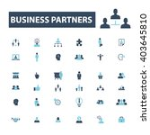 business partners icons  | Shutterstock .eps vector #403645810
