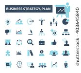 business plan strategy icons  | Shutterstock .eps vector #403645840