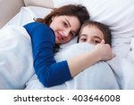 mother and her little boy... | Shutterstock . vector #403646008