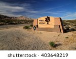 entrance sign in the mojave... | Shutterstock . vector #403648219