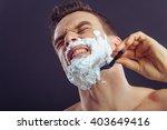 portrait of handsome man... | Shutterstock . vector #403649416