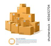 a pile of boxes. cardboard... | Shutterstock .eps vector #403652704