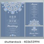 wedding invitation or card with ... | Shutterstock .eps vector #403653994