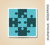 puzzle icon design  vector... | Shutterstock .eps vector #403659043
