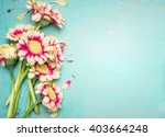 lovely flowers on turquoise... | Shutterstock . vector #403664248