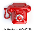 Red Vintage Telephone Isolated...