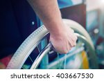 Detail Of A Disabled Man On A...