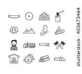 Lumberjack   Woodcutter Icon Set