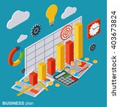 business plan  report ... | Shutterstock .eps vector #403673824