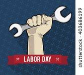illustration of labor day. man... | Shutterstock .eps vector #403686199