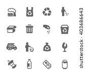 simple set of garbage related... | Shutterstock .eps vector #403686643
