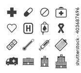 medical icons with white... | Shutterstock .eps vector #403687696