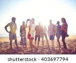 friends friendship leisure... | Shutterstock . vector #403697794