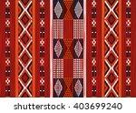 geometric ethnic oriental ikat... | Shutterstock .eps vector #403699240