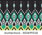 geometric ethnic oriental ikat... | Shutterstock .eps vector #403699318