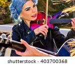 Music Street Performers Girl...